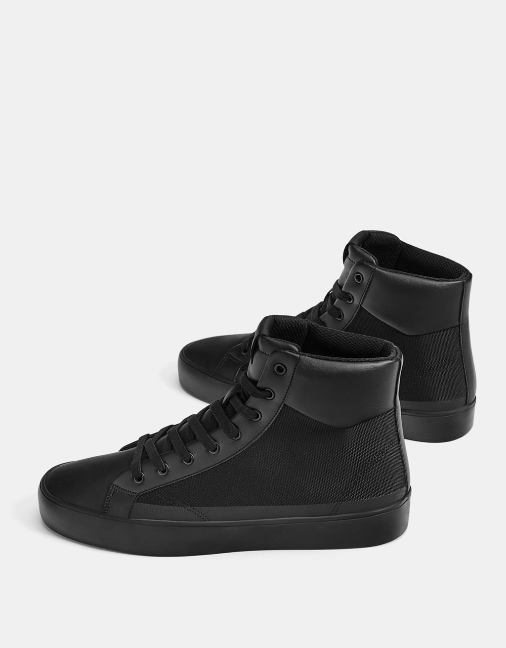 Men's monochrome high top sneakers