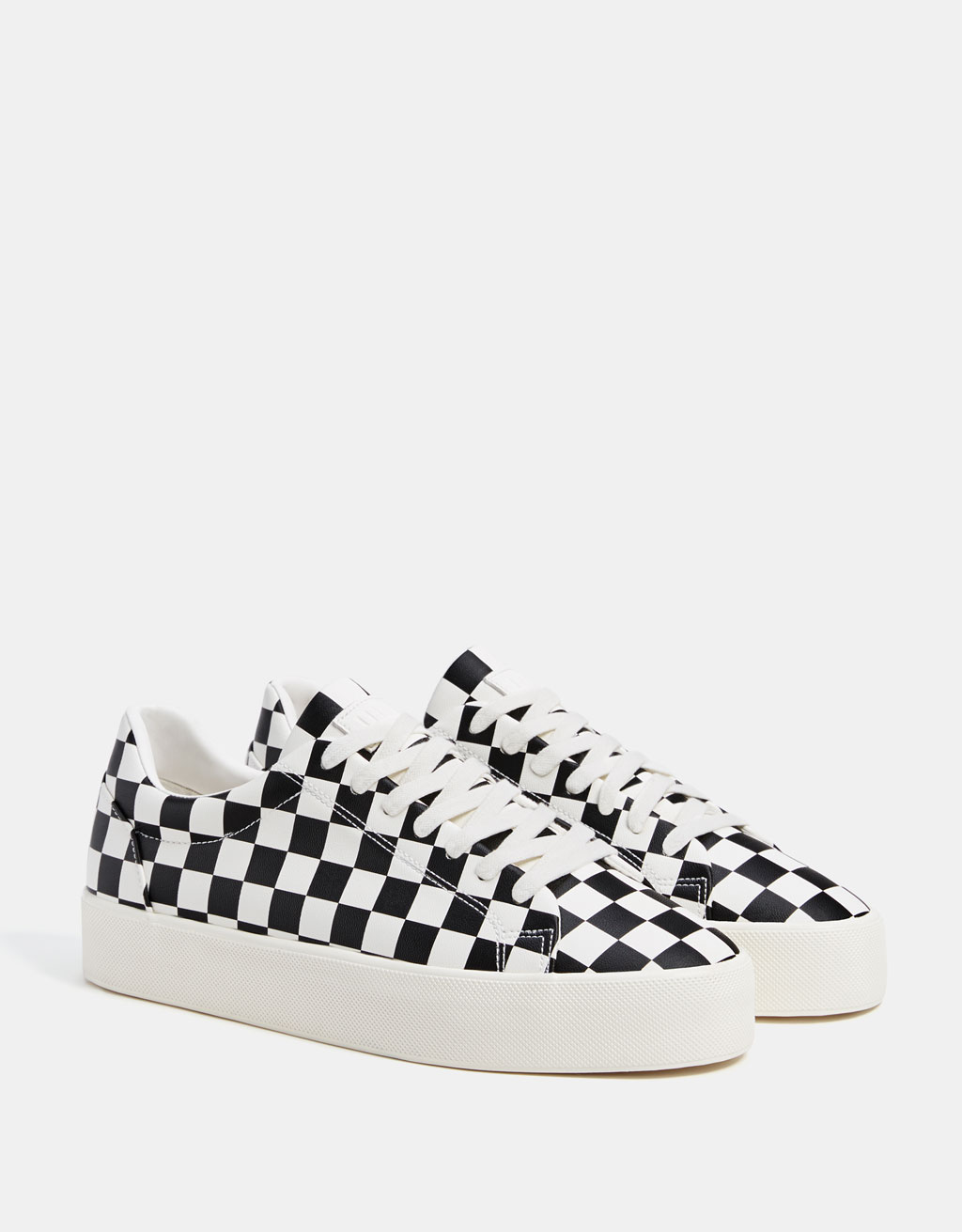 Men's checked sneakers