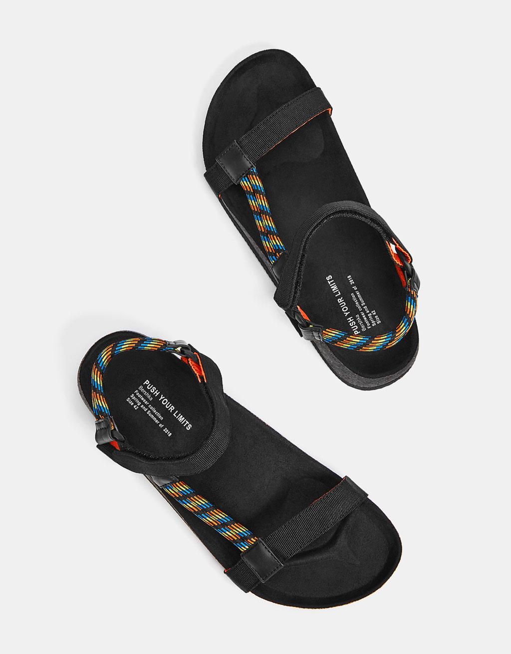 Men's cord sandals