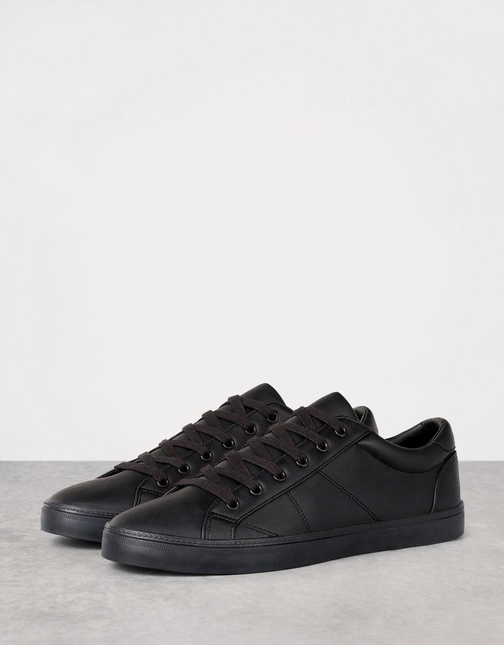 Basic Lace Up Brogue Shoes Men Bershka