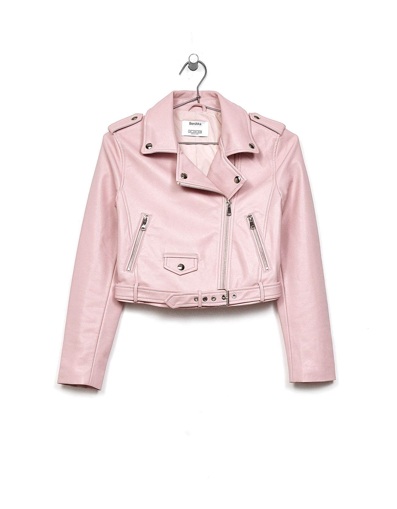 Short faux leather biker jacket - Jackets - Bershka Cyprus