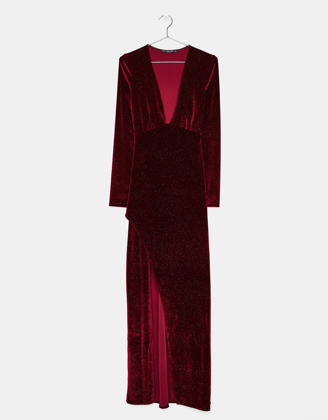 Robe velours rouge bershka