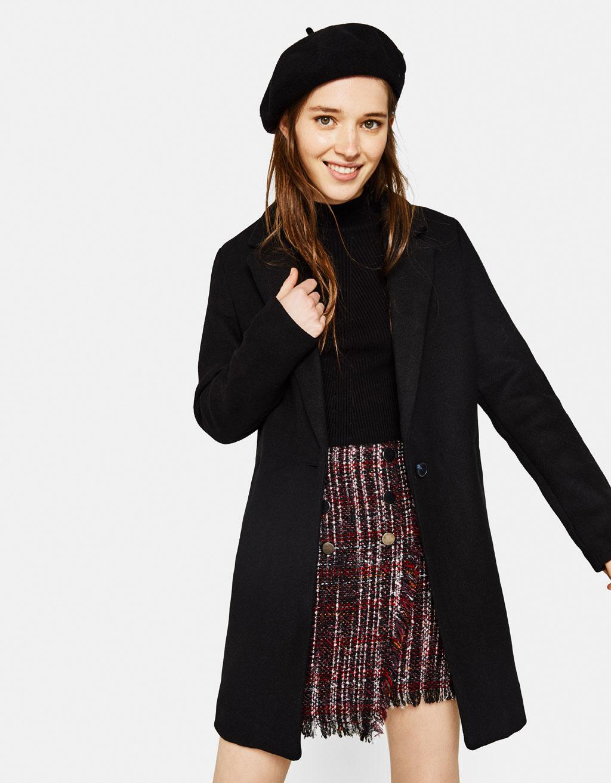 Nouveaut de mode pour femme automne hiver 2017 bershka - Manteau coupe masculine pour femme ...