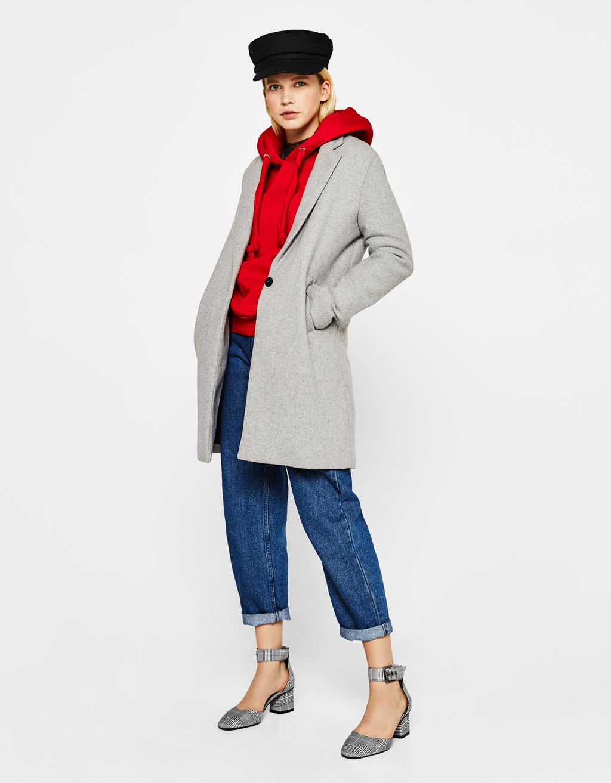 Manteaux pour femme automne hiver 2017 bershka - Manteau coupe masculine pour femme ...