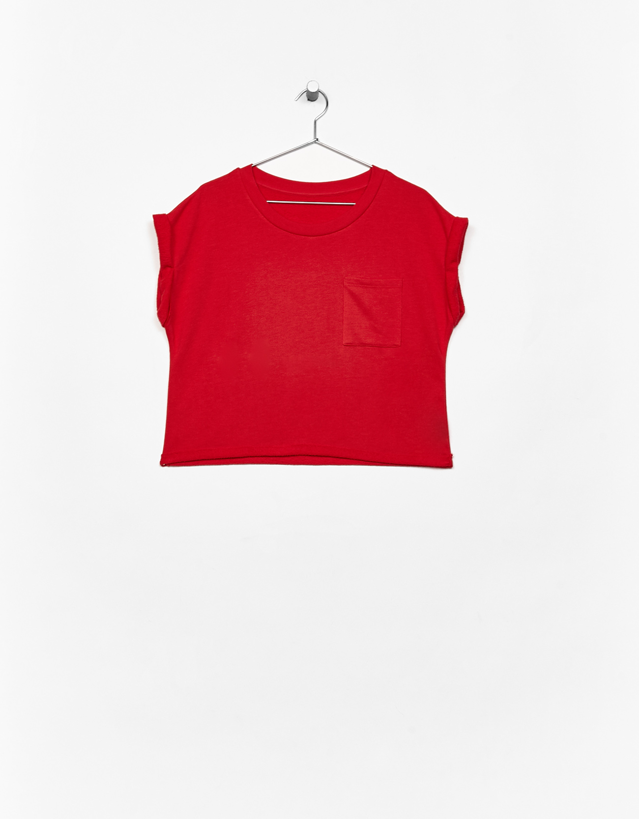 Cropped short sleeve sweater - null - Bershka United Kingdom