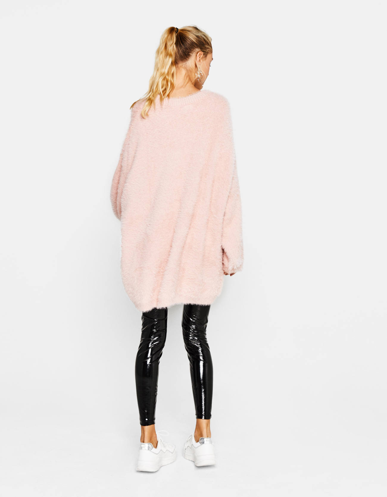Oversized fuzzy sweater - null - Bershka China