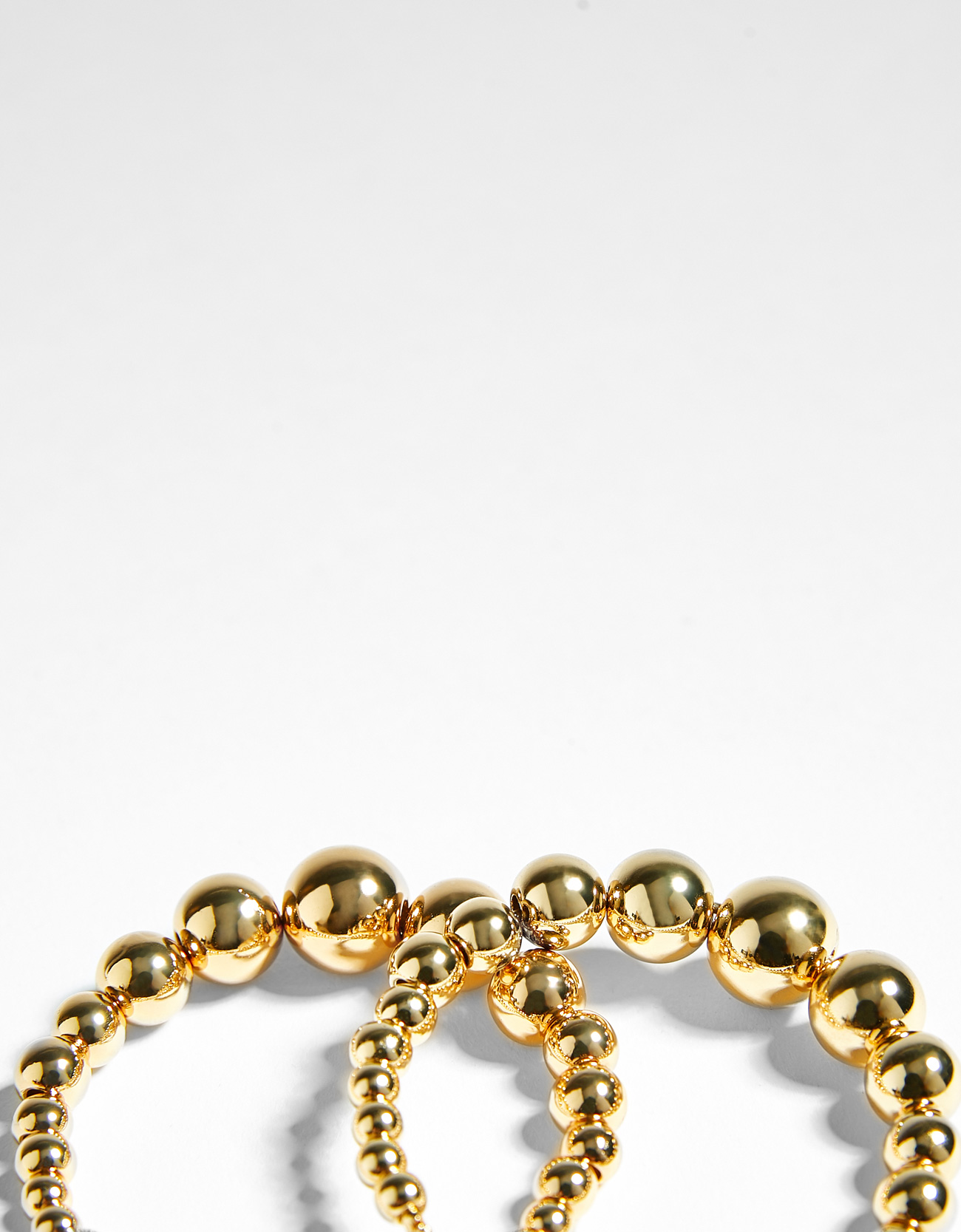 Hoop earrings with gold faux pearls - Jewellery - Bershka Tunisia