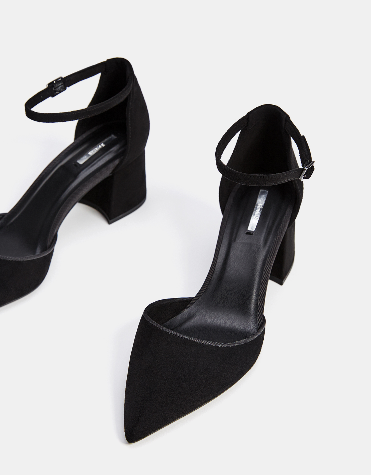 Mid-heel shoes with ankle straps - SHOES - Bershka Azerbaijan