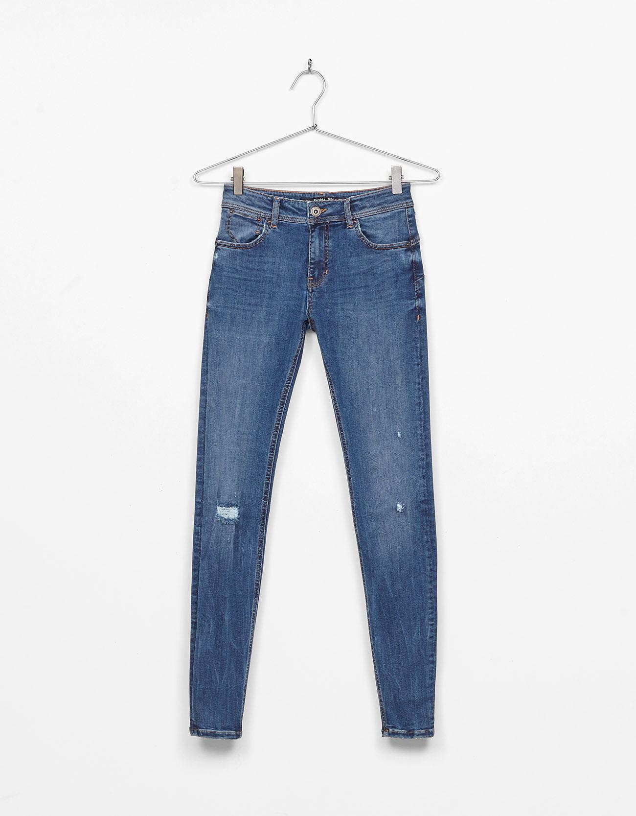 Ripped Push-up Jeans - Jeans - Bershka Ireland