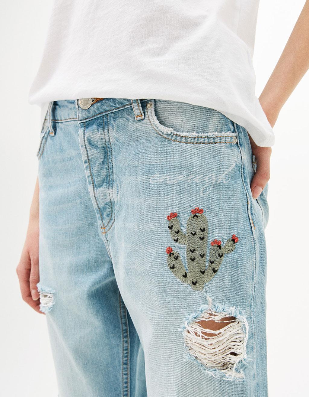 Cactus Print Jeans - Bershka