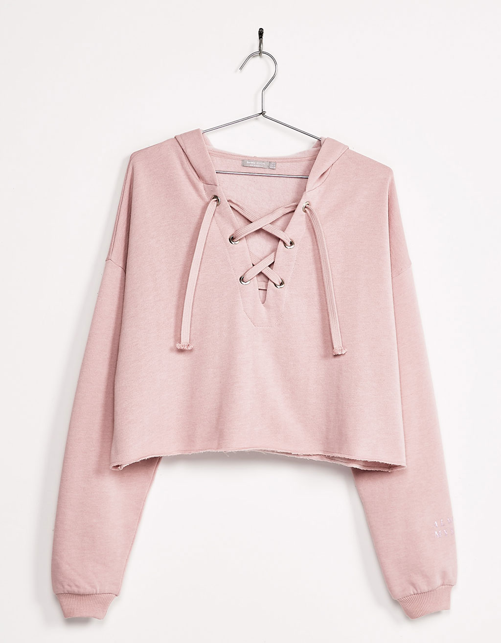 sweat lacets bershka