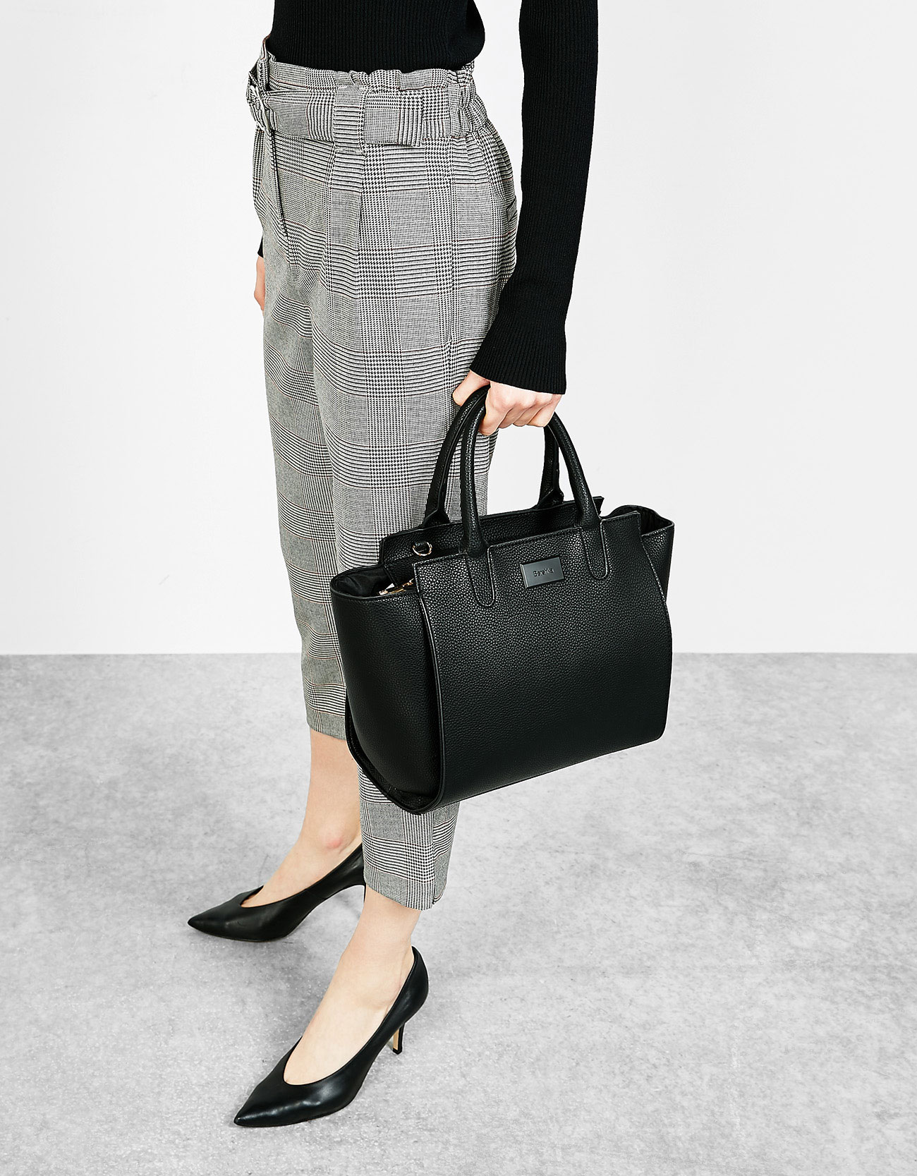 Medium tote bag - Bags - Bershka Macedonia