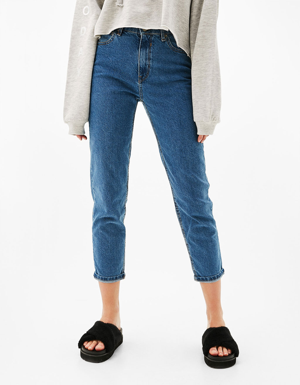 Jean hight waist 'Mom Fit' - Jeans - Bershka France
