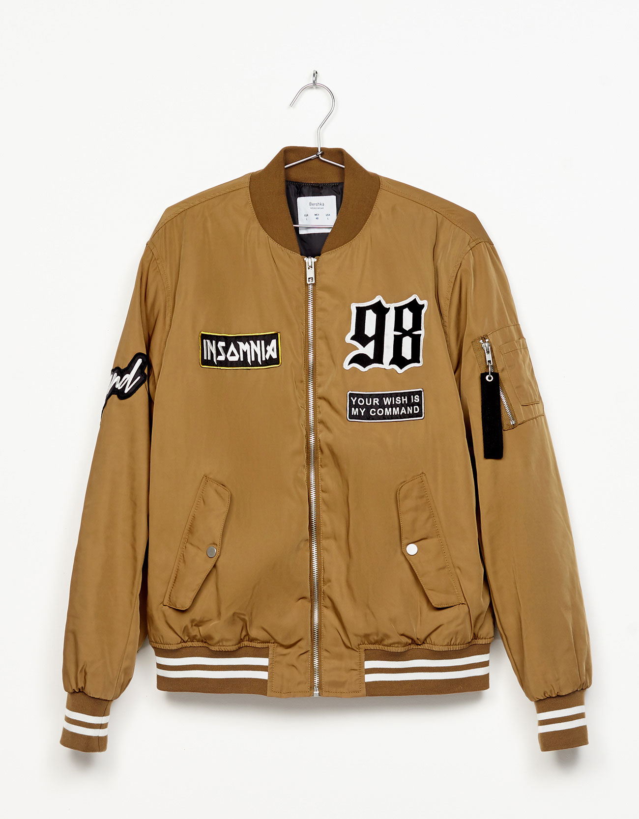 Baseball jacket with text - Jackets - Bershka Ireland
