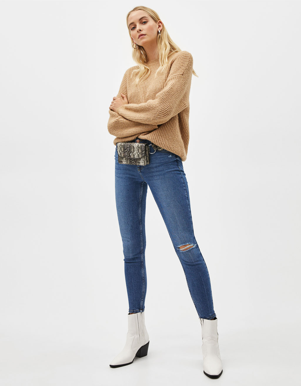 Jeans Skinny Mid Rise
