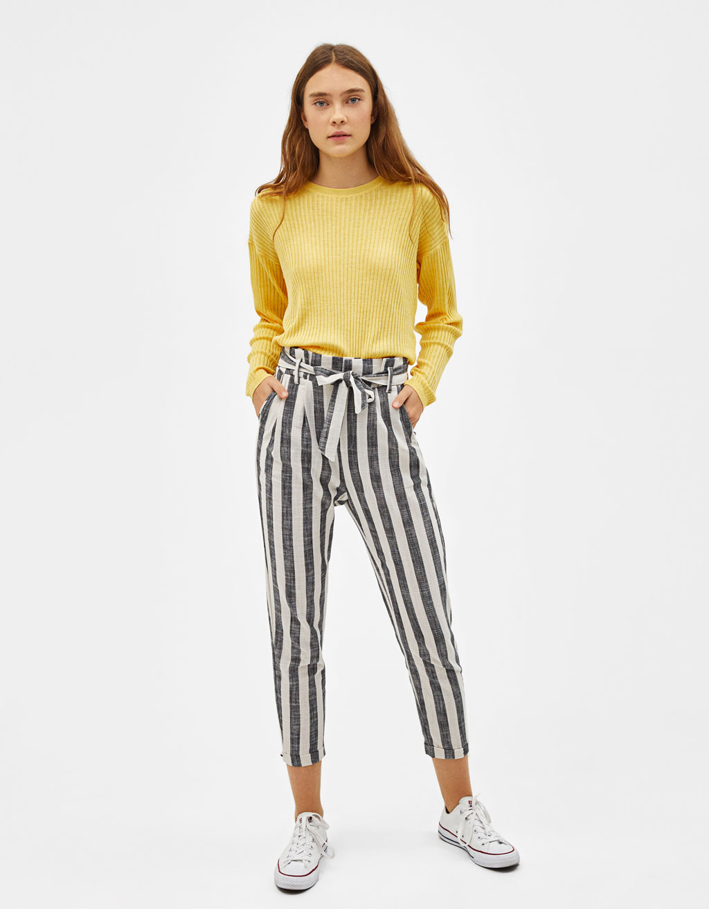 Tailored paperbag trousers