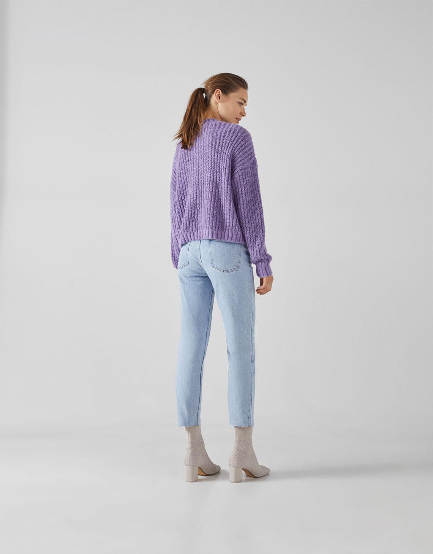 e43e9e2c0 Straight fit cropped jeans - Beauty - Bershka Tunisia