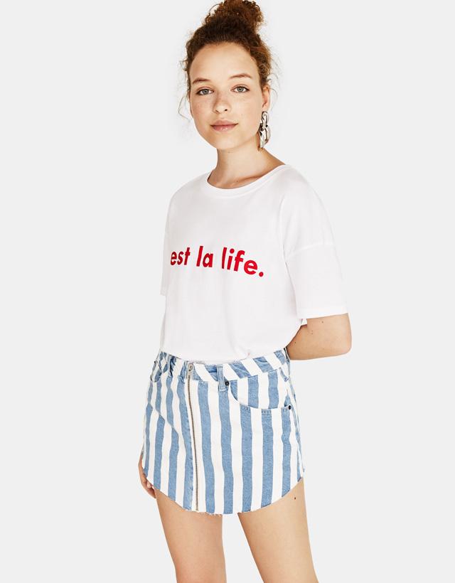 d3cb4e3dd21af Printed - Skirts - SALE - WOMEN - Bershka Montenegro
