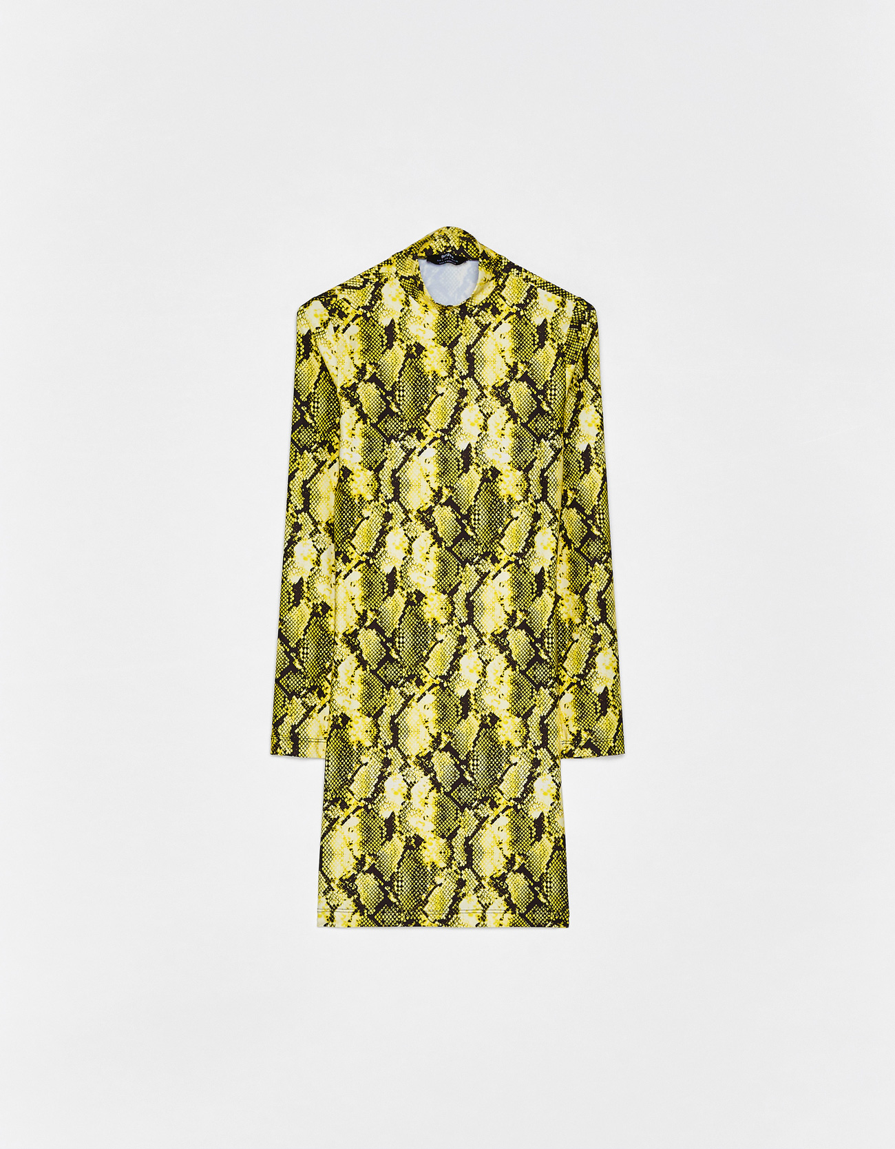 Snakeskin print dress - Printed - Bershka Philippines a40d57e96