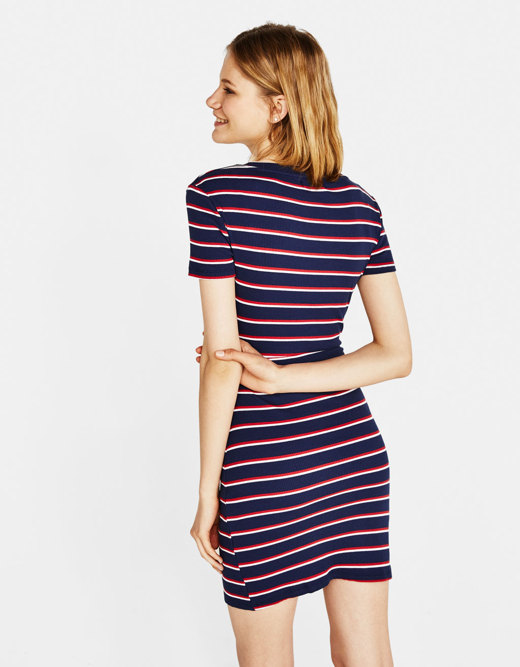 533fcec2e1 Striped dress with front knot