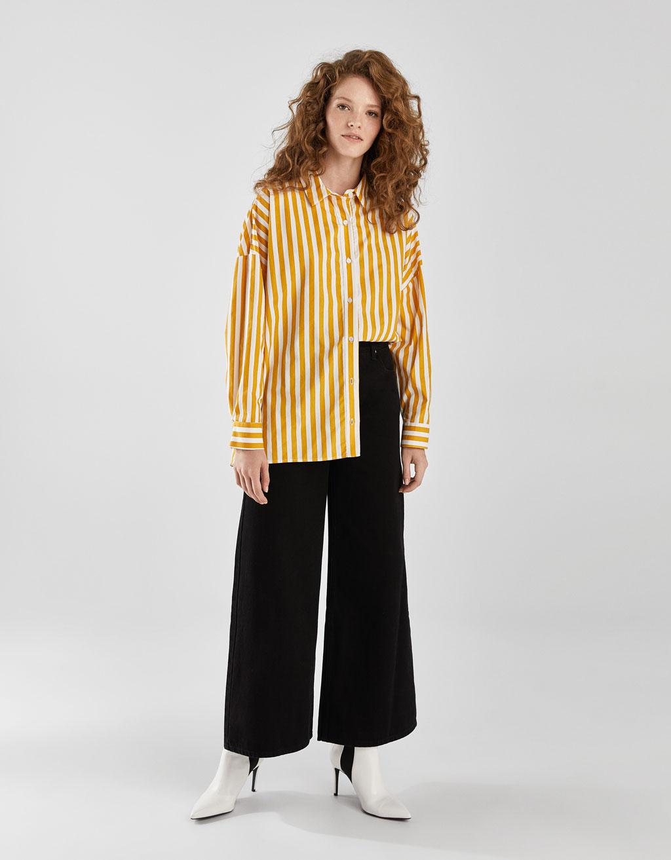Oversize poplin gömlek