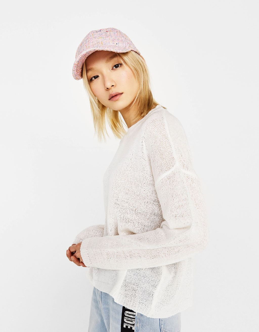 Loose-fit round neck sweater