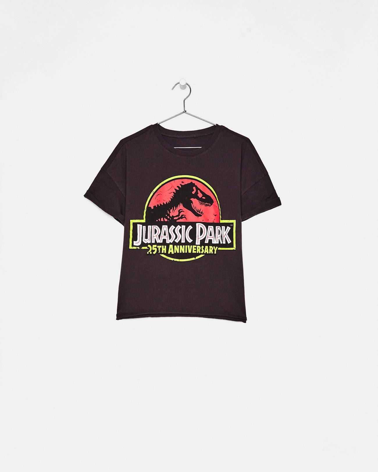 Jurassic Park T Shirt Printed Bershka Spain