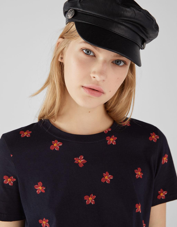 Camiseta De Flores by Bershka