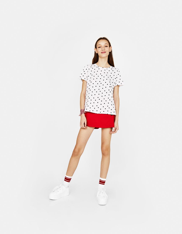 Camiseta con colo redondo