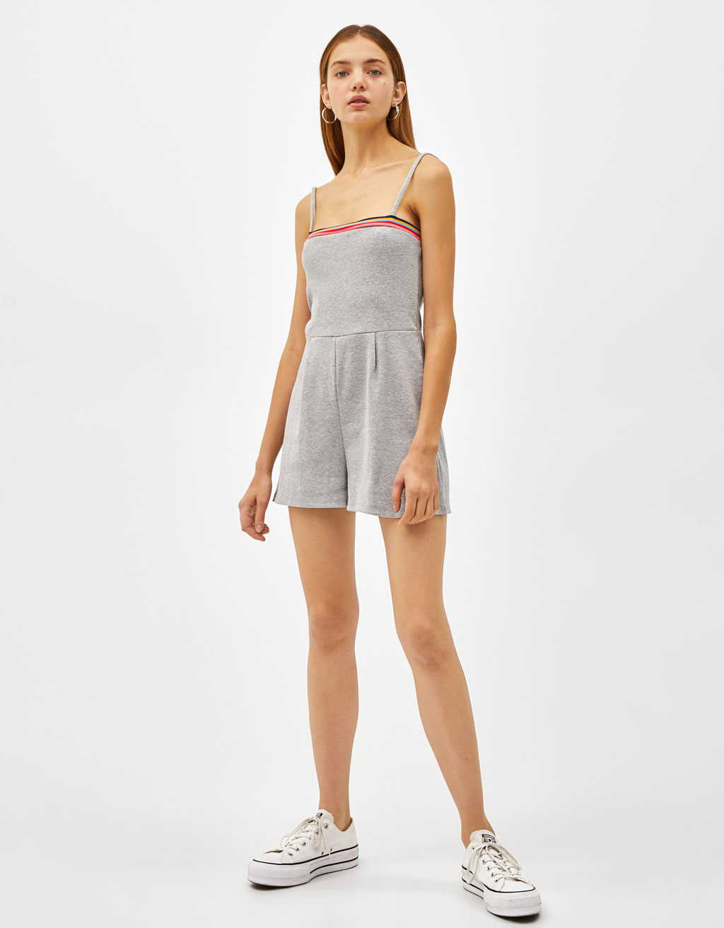 Strappy short jumpsuit