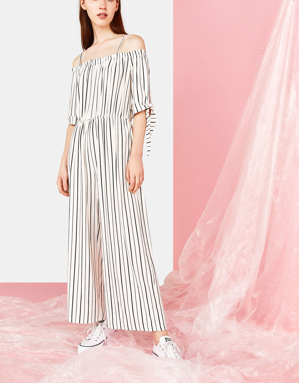 Long off-the-shoulder jumpsuit