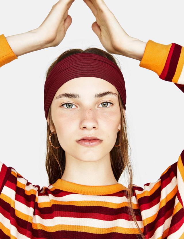 Plissée-Turban-Haarband mit Zierknoten