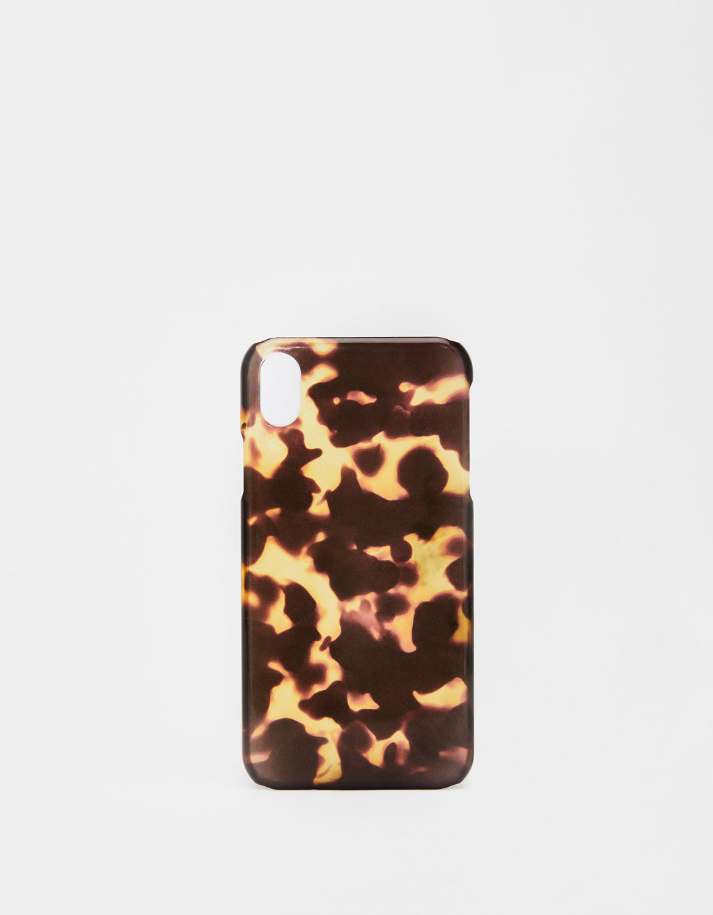 Tortoiseshell-effect iPhone XR case