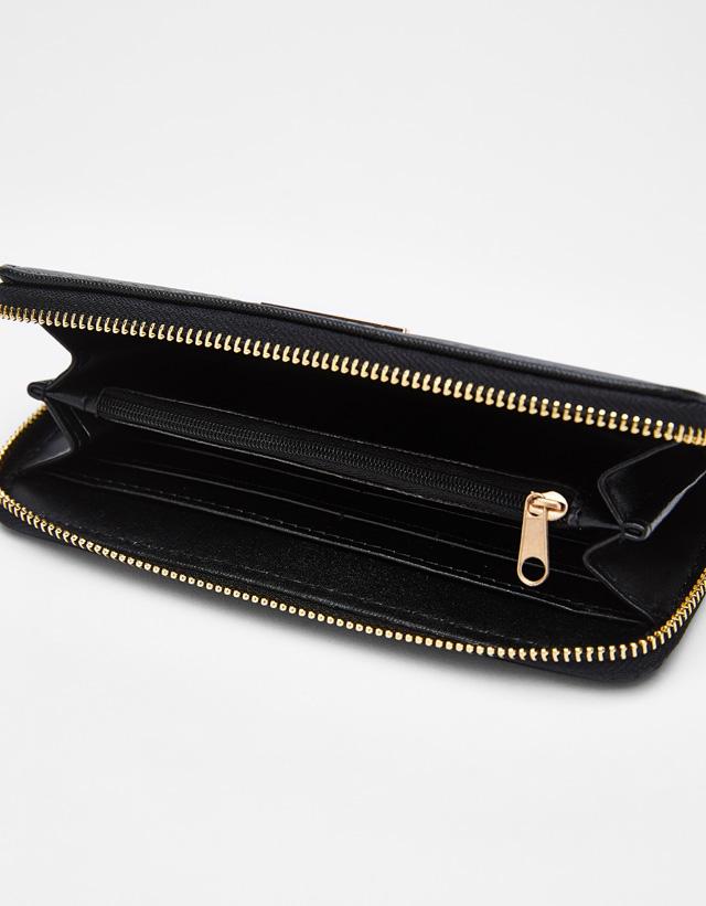 Portemonnaie mit Zierplatte