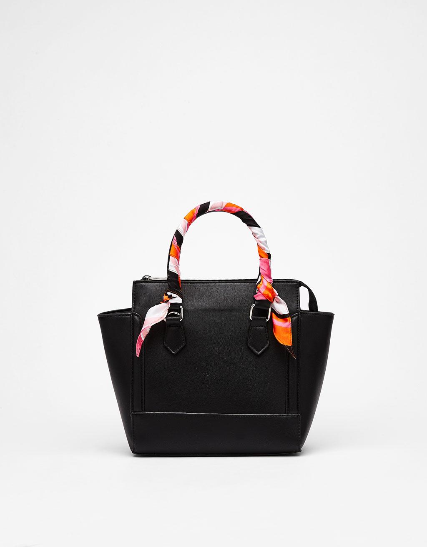 Tote bag with scarf - Flats - Bershka United Kingdom 3b0c7c534f7f1