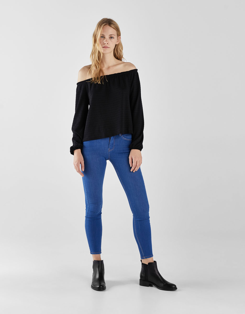 Mid waist skinny jeans with five pockets