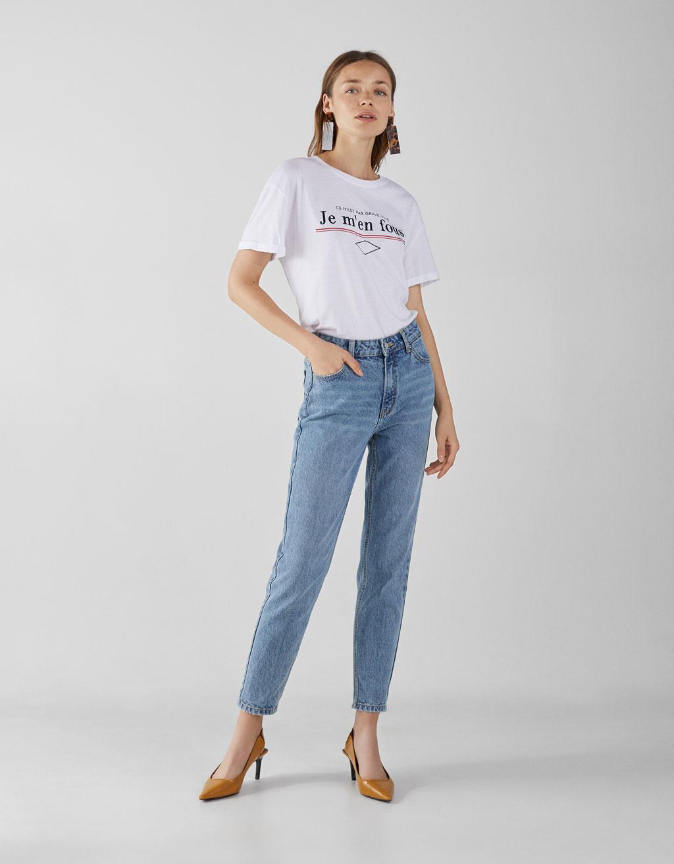 5cde7a5d2 High waist mom jeans - Trousers - Bershka Bosnia and Herzegovina