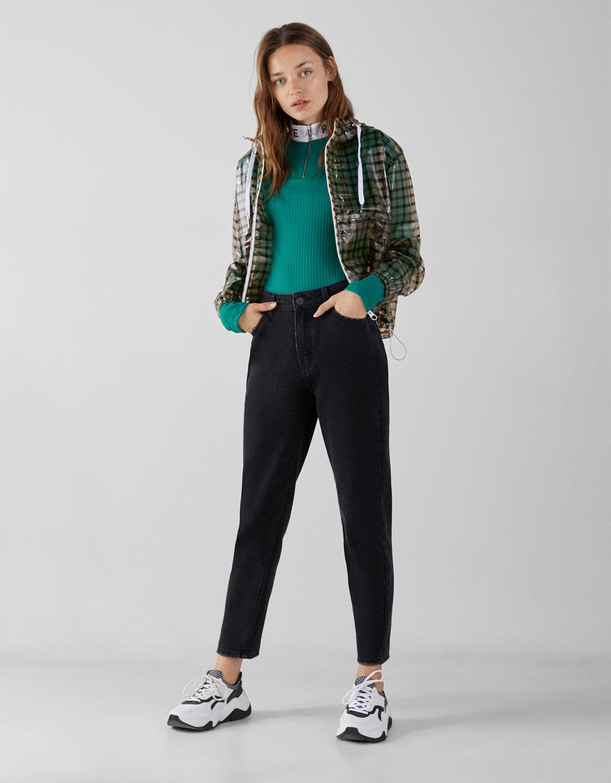 4d1169d1d High waist mom jeans - New - Bershka Mexico