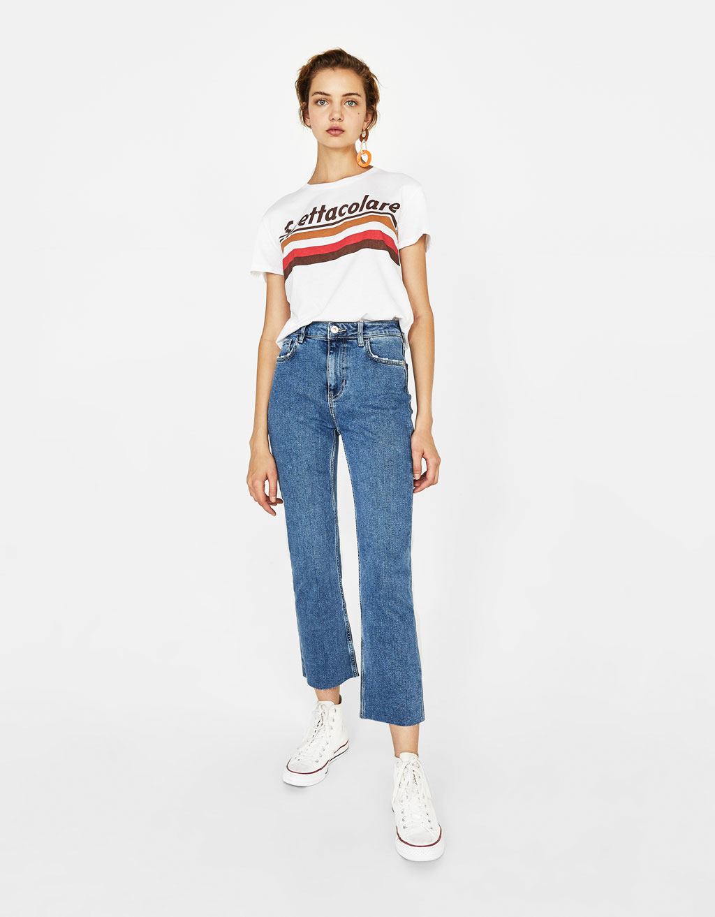 Jeanși Kick Flare Fit High Waist