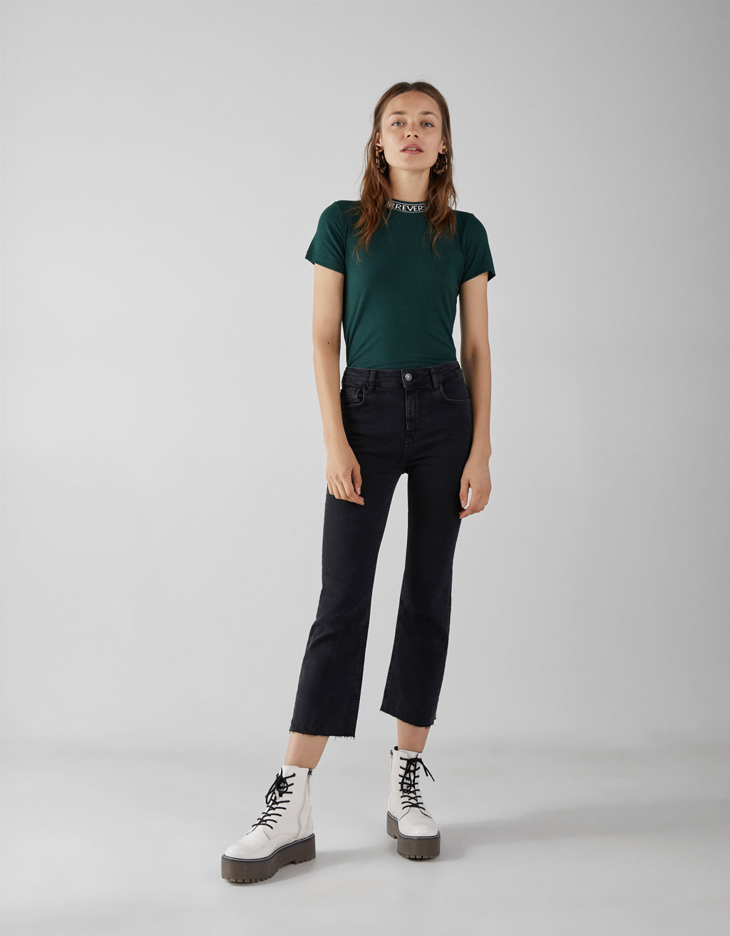 Kick Flare Fit High Waist farmernadrág