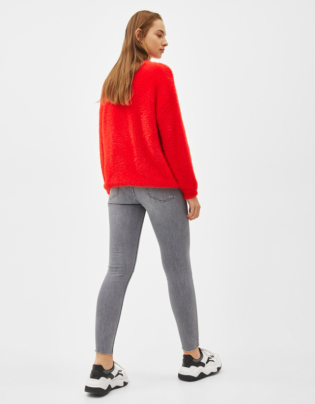 Skinny-Jeans mit superhohem Bund Join Life