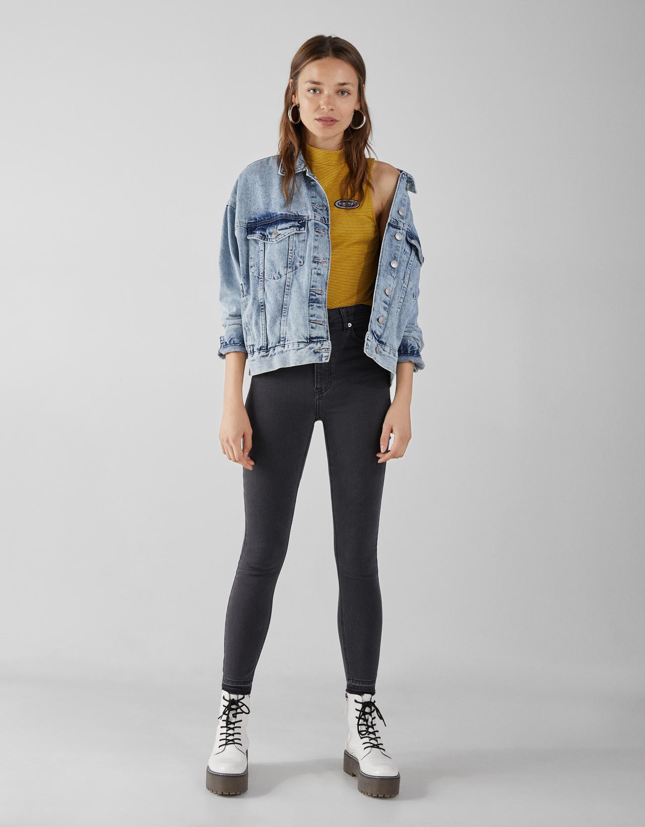 78379e0b5b22 Super High Rise Skinny Jeans - Mid Rise - Bershka Macedonia