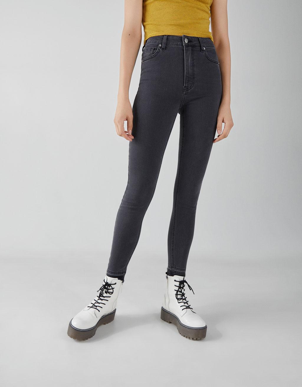 3b392523f184 Super high-rise skinny jeans - New - Bershka Macedonia