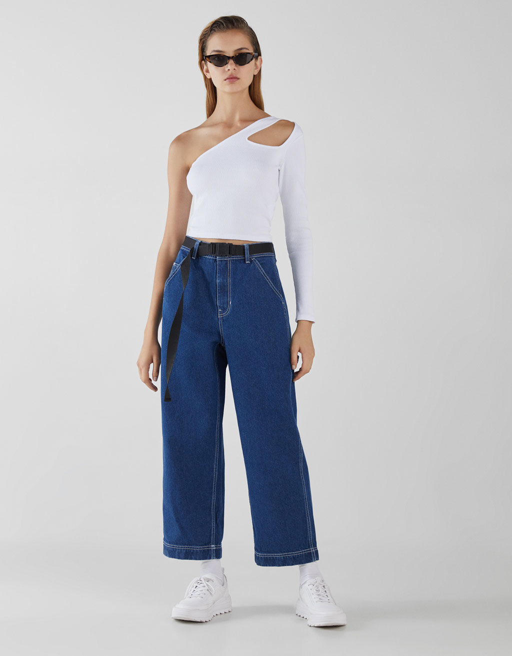 Jeans Culottes Mid Rise by Bershka