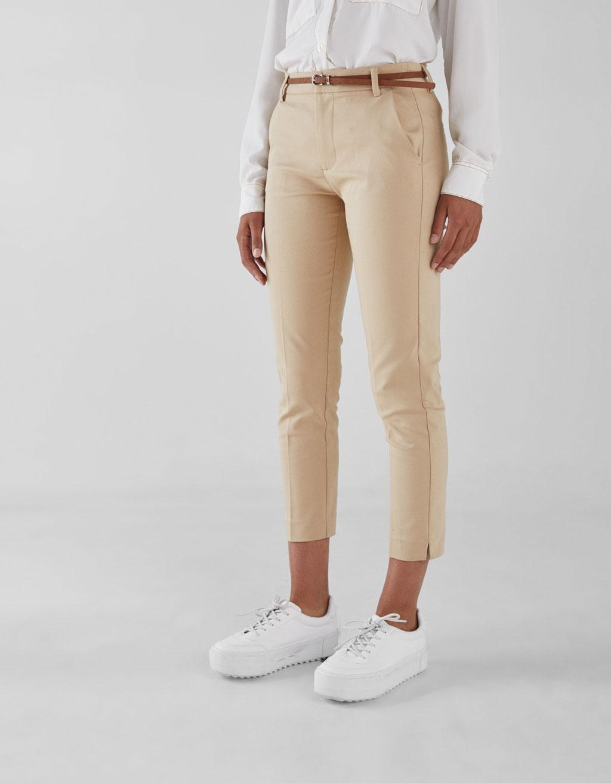 Pantalón chinés con cinto