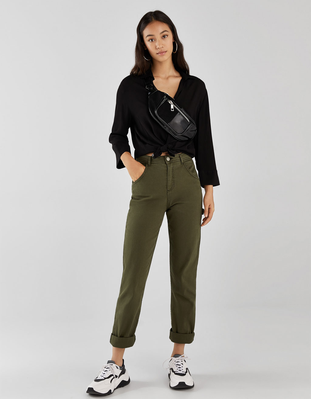 Pantalons contrast relaxed fit