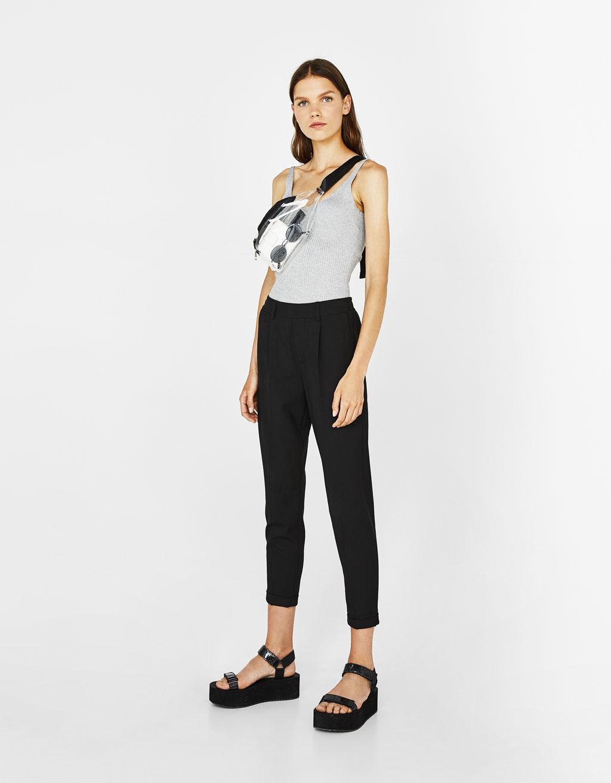 Spodnie joggersy tailoring z zakładkami