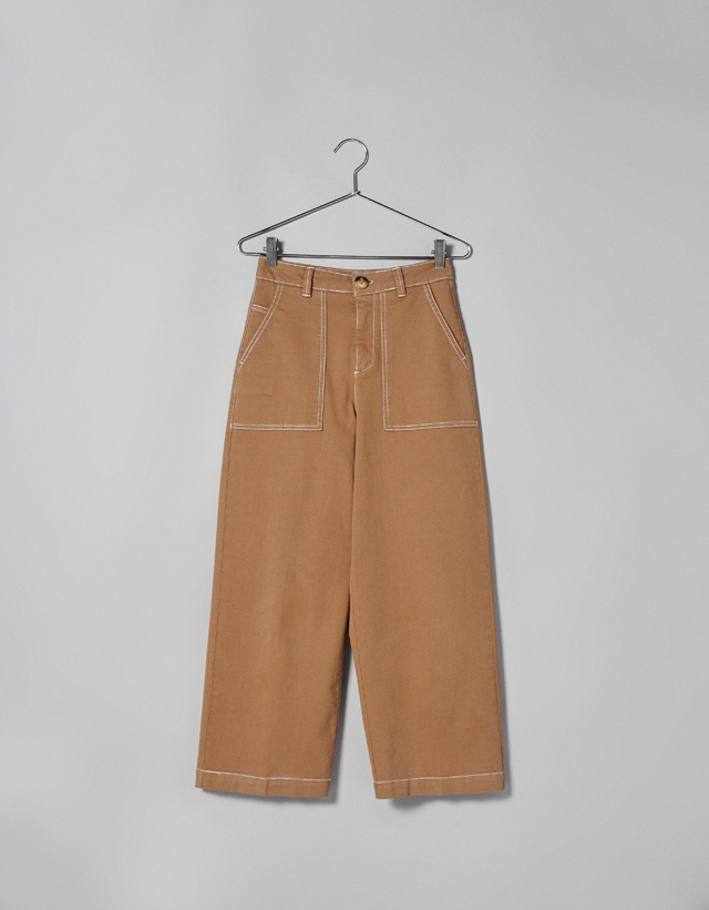 Culotte-Hose mit Kontrastnähten
