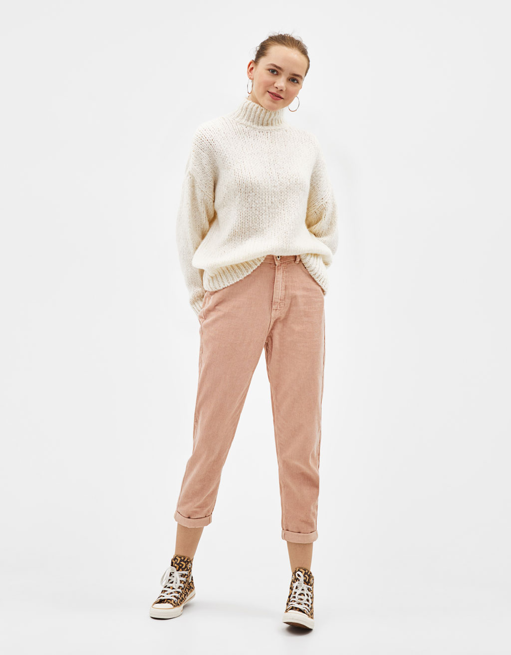 Corduroy mom fit broek