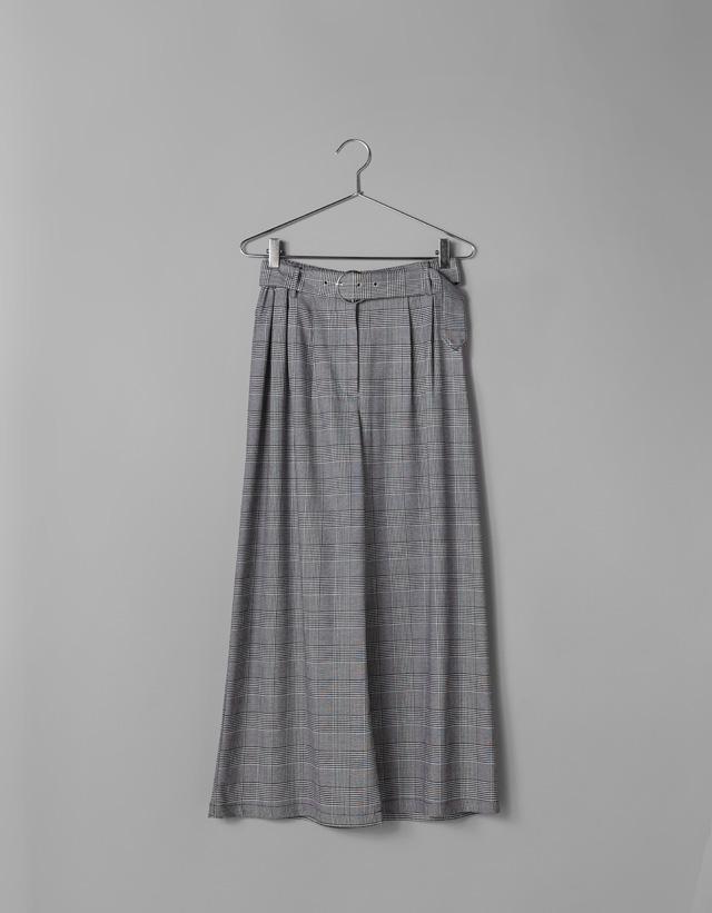Weite Hose mit Print und Gürtel